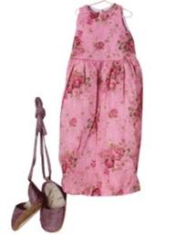 Maxi klänning och skor mörk blommig Maileg