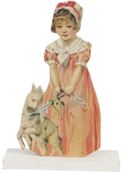 Viktoriansk  flicka med get shabby chic lantlig stil