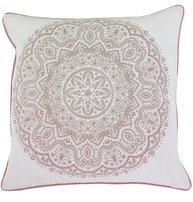 Kuddfodral vit rosa Orient shabby chic lantlig stil