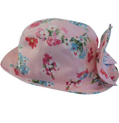 Ljuvlig rosa barn hatt med rosett  lantlig stil shabby chic