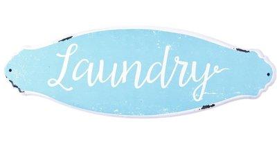 Plåtskylt Laundry shabby chic lantlig stil