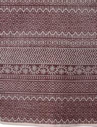 Matta Marocko Plum mönstervävd lantlig stil