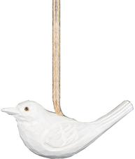Vit fågel i trä att hänga shabby chic lantlig stil