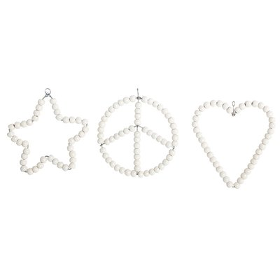 House Doctor 3 sorter Ornament Heart Star Peace hjärta stjärna fred