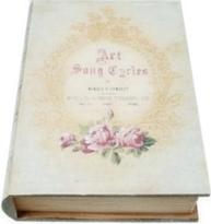 Bokbox Boklåda bokgömma rosor shabby chic lantlig stil