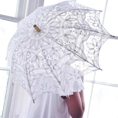 Paraply spets bröllopsparaply spetsparaply vintage parasoll shabby chic lantlig stil