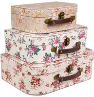 3 set väskor blommiga shabby chic lantlig stil
