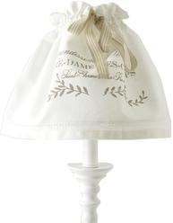 Lampkjol lampskärm Notre Dame vit linne färgat tryck shabby chic lantlig stil fransk lantstil