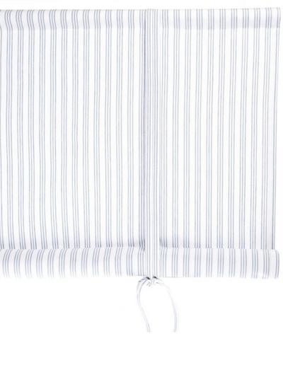 Hissgardin randig ljusblå vit Nyblom & Kollén shabby chic lantlig stil