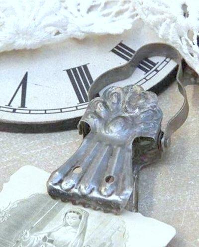 Klämma i antik metall shabby chic lantlig stil