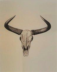Bild Bull Horn industristil kraftig papp