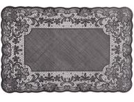 Bordstablett spets  svart  shabby chic lantlig stil