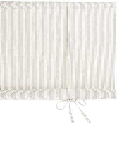 Hissgardin 160cm längd randig Åsa Sand vit linne-beige Nyblom & Kollén shabby chic lantlig stil