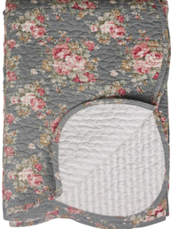 Överkast pläd Quilt Blomster Rand Chic Antique shabby chic lantlig stil fransk lantstil