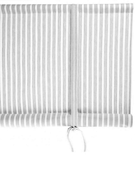 Hissgardin randig svart vit Nyblom & Kollén 120 / 140 x 160 cm shabby chic lantlig stil