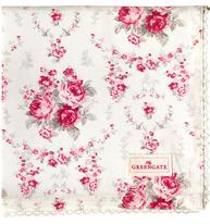 Brödkorgsduk duk rosa rosor Coco Greengate shabby chic lantlig stil