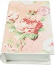 Boklåda bokgömma rosor shabby chic lantlig stil