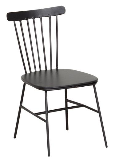 Stol pinnstol mini svart metall shabby chic lantlig stil