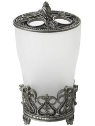 Tandborstmugg silver kristall shabby chic lantlig stil