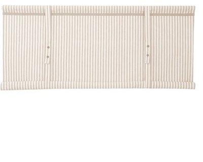 Hissgardin vit linne-beige randig rullgardin shabby chic lantlig stil fransk lantstil