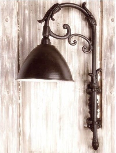 Vägglampa antik stil shabby chic lantlig stil