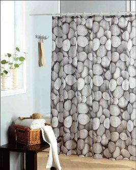 Duschdraperi stenar lantlig stil
