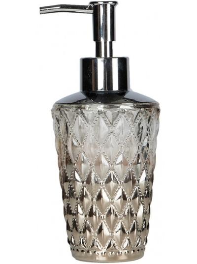 Tvålpump tandborstglas fattigmanssilver diamant shabby chic lantlig stil