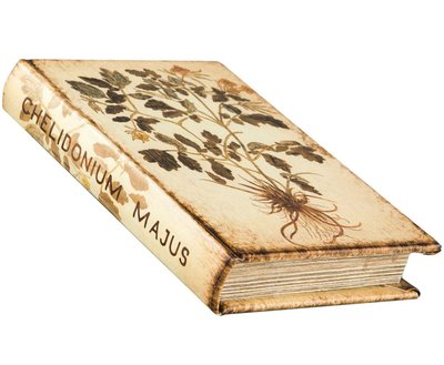 Bokask boklåda bokgömma gammal Flora bok fransk shabby chic lantlig stil