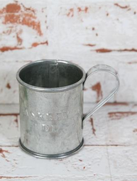 Decilitermått zink gammeldags shabby chic lantlig stil