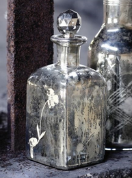 Flaska karaff fattigmanssilver shabby chic lantlig stil fransk lantstil