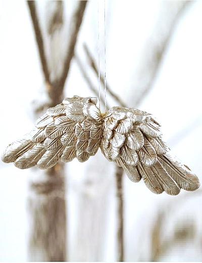 Änglavingar vingar silver shabby chic lantlig stil
