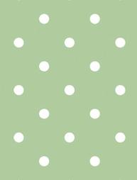 2:a sortering Vaxduk ljusgrön stora vita prickar shabby chic lantlig stil