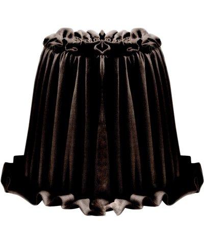 Lampskärm Ida svart veckad shabby chic lantlig stil