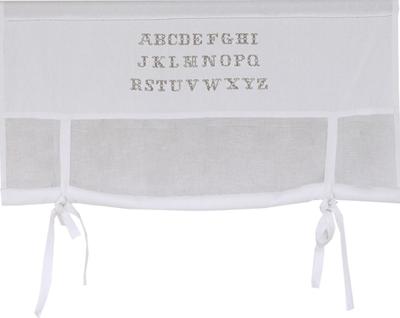 Knythissgardin hissgardin vit med broderade bokstäver