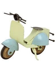 Scooter ljusblå plåt retro dekoration shabby chic lantlig stil