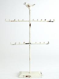 Smyckesställ smyckeshållare antikvit smide fågel shabby chic lantlig stil