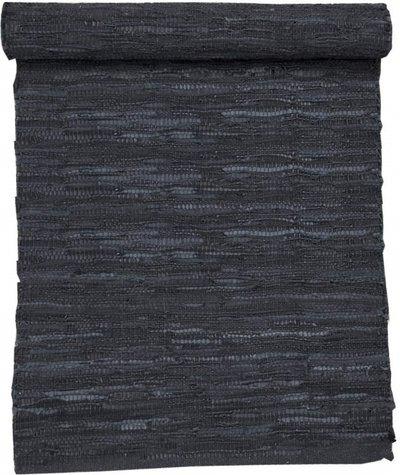 Svart matta läder