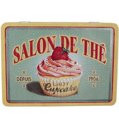 Fransk plåtburk the 6 fack cupcake retro cuisine shabby chic lantlig stil