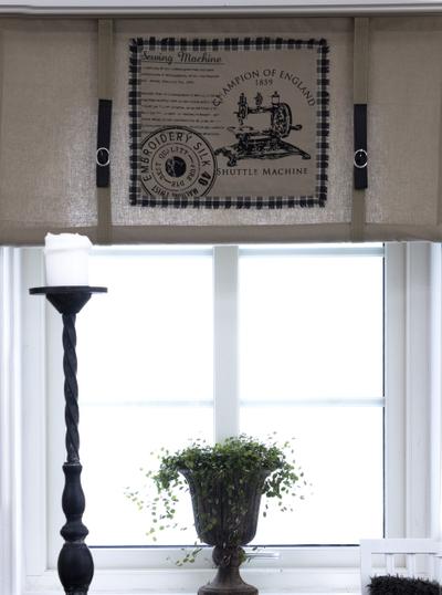 Hissgardin gammal symaskin 100-160cm