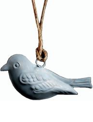 Fågel i zink plåt shabby chic lantlig stil