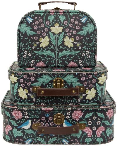3 set väskor Morris Garden blommiga shabby chic lantlig stil fransk lantstil