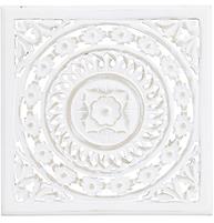 Handskuren vit trädekoration tavla tempeltavla shabby chic lantlig stil