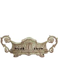 Kruka antik stil rikt dekorerad metall shabby chic lantlig stil