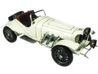 Stor Cabriolet vit bil i plåt shabby chic lantlig stil