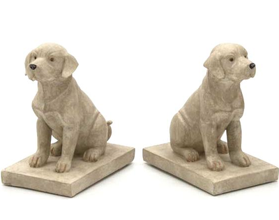 Bokstöd hundar paret