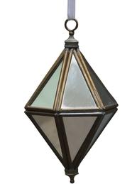 Diamant antik mässing spegelornament  shabby chic lantlig stil