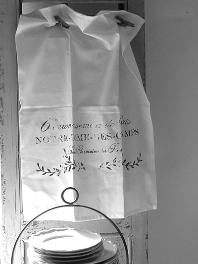 Kökshandduk handduk franskt tryck Notre Dame shabby chic lantlig stil fransk lantstil
