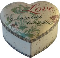 Plåtask hjärtformad hjärta Love stor shabby chic lantlig stil