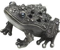 Grodprins groda smyckesbox silver Crystal shabby chic lantlig stil
