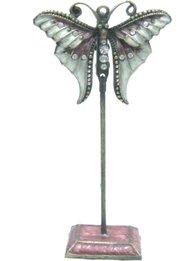 Korthållare emaljerad fjäril shabby chic lantlig stil